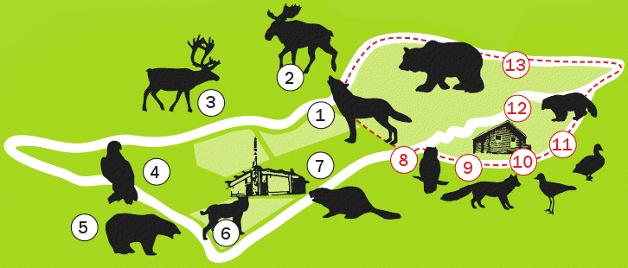 Zoo Brno - Mapa komplexu Beringie
